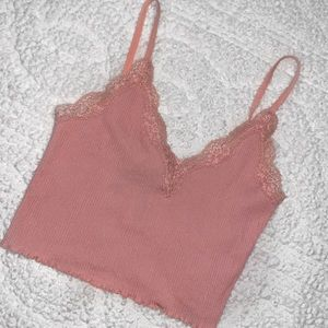 ☀️OFFERS?☀️ Pink bralette/crop top